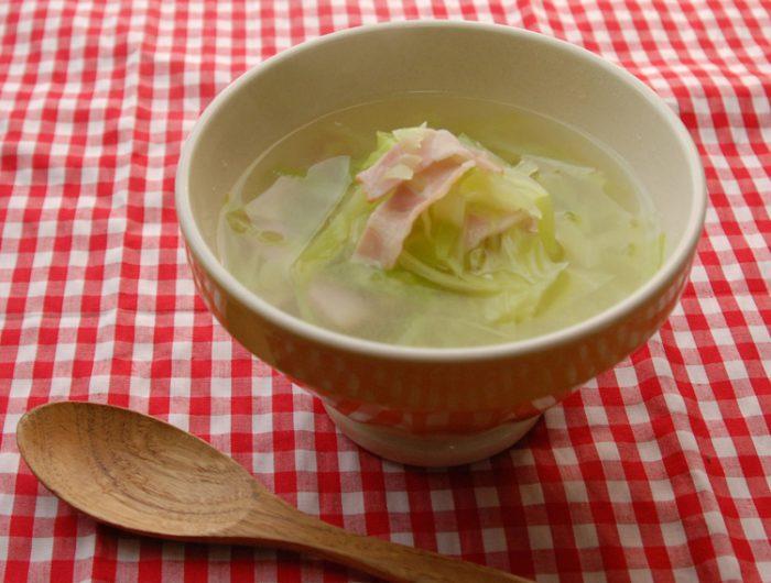 春キャベツのしお麹スープ