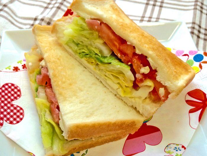 春キャベツとクリームチーズのサンドイッチ