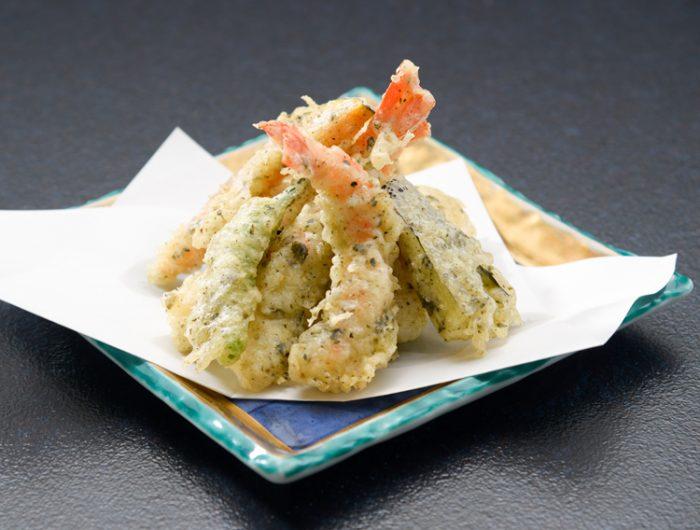 【大根菜漬フレークで】天ぷら~大根菜風味~