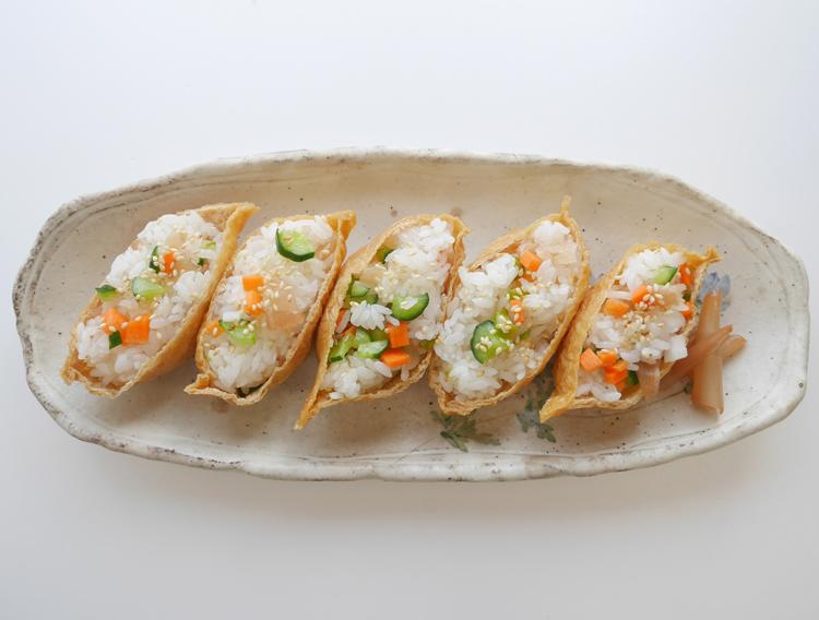 漬物でいなり寿司