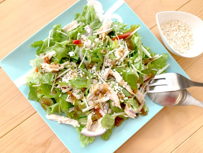 【玄米フレークで】グリーンサラダ