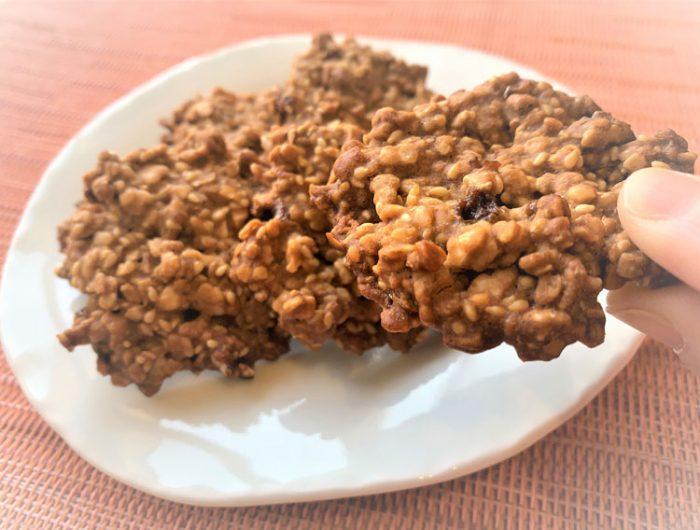 【玄米フレークで】玄米とナッツのザクザククッキー