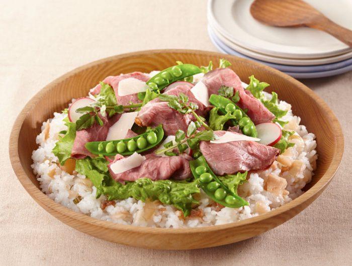 【漬物すしのもとで】ローストビーフのサラダ寿司