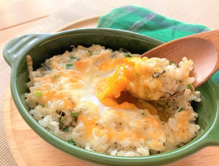【津田かぶ菜ふりかけで】トロっと卵の焼きチャーハン