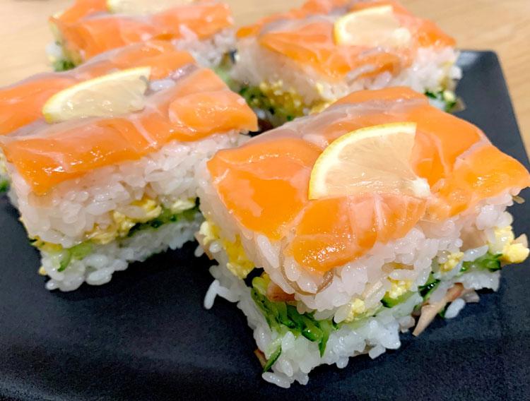 【漬物すしのもとで】サーモンの押し寿司