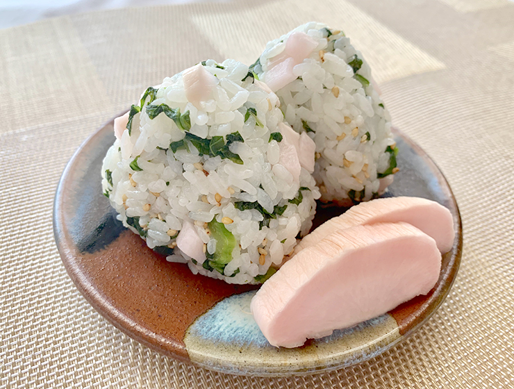 雲太と高菜のご飯(おにぎり)