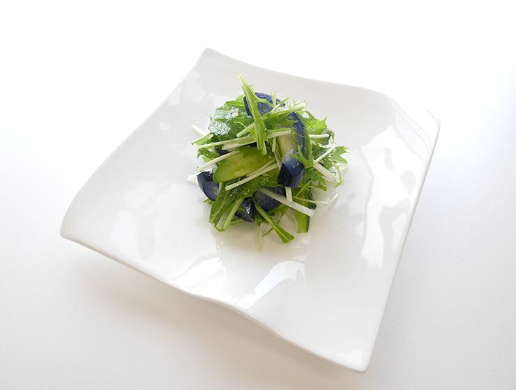 りんご茄子と水菜のサラダ