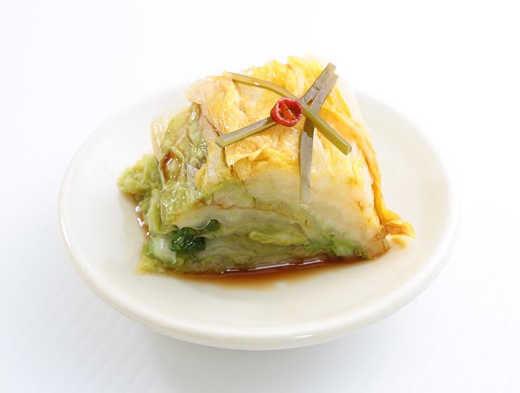 こだわり醤油白菜皿盛り