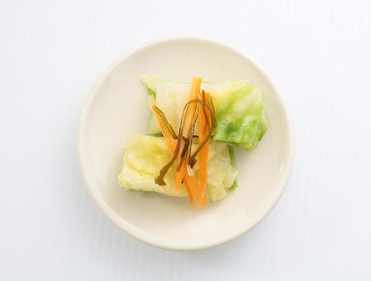 春キャベツの浅漬皿盛り