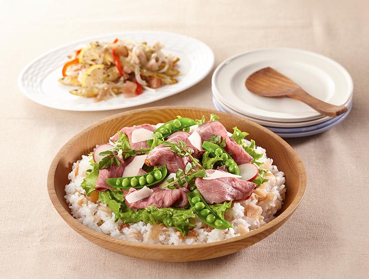 ローストビーフのサラダ寿司