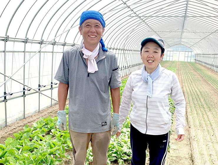 ラディッシュ生産者たぐちファームの田口夫妻