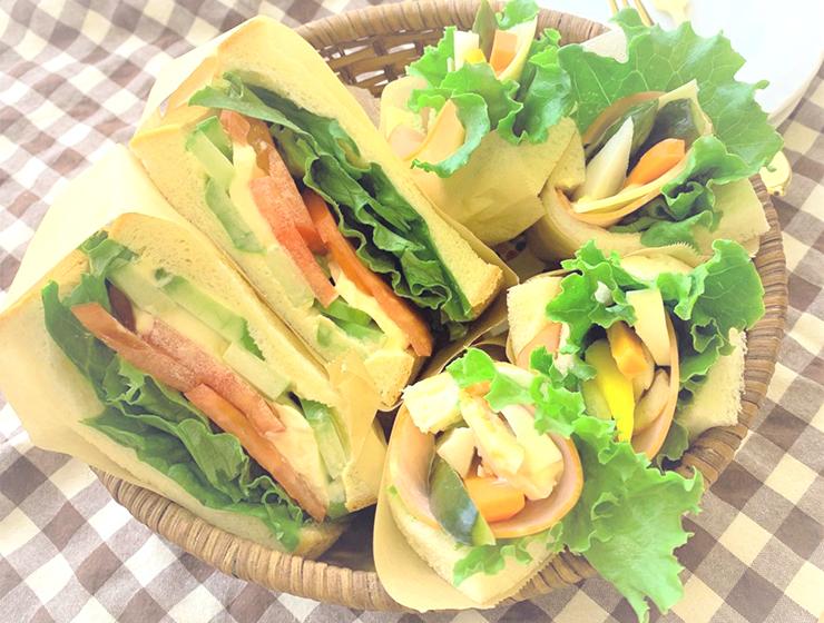 スティックピクルスと瓜の浅漬サンドイッチ