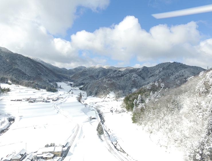 冬の大峠源流米の産地