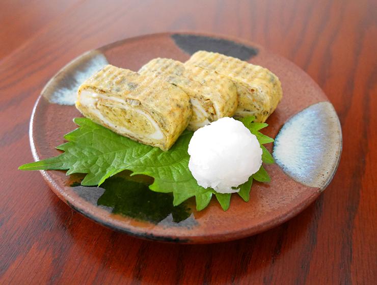津田かぶ菜漬入り卵焼き
