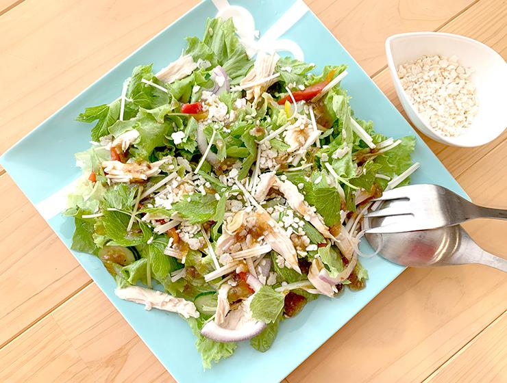 グリーンサラダ+玄米フレーク