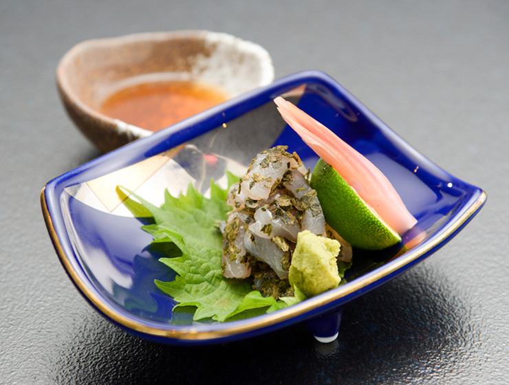 【津田かぶ菜漬ふりかけで】白身魚と津田かぶ菜の和え物