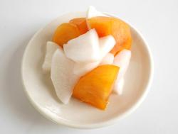 柿と大根の浅漬皿盛り
